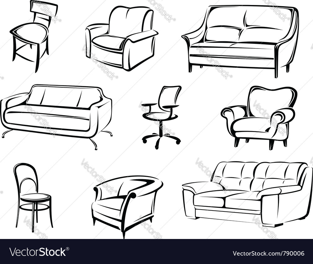 Furniture objects vector | Price: 1 Credit (USD $1)