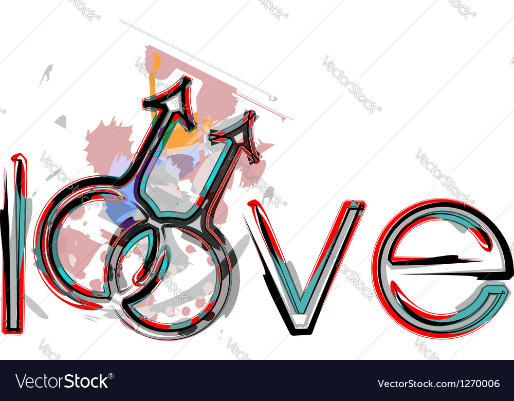 Gay love symbols vector | Price: 1 Credit (USD $1)
