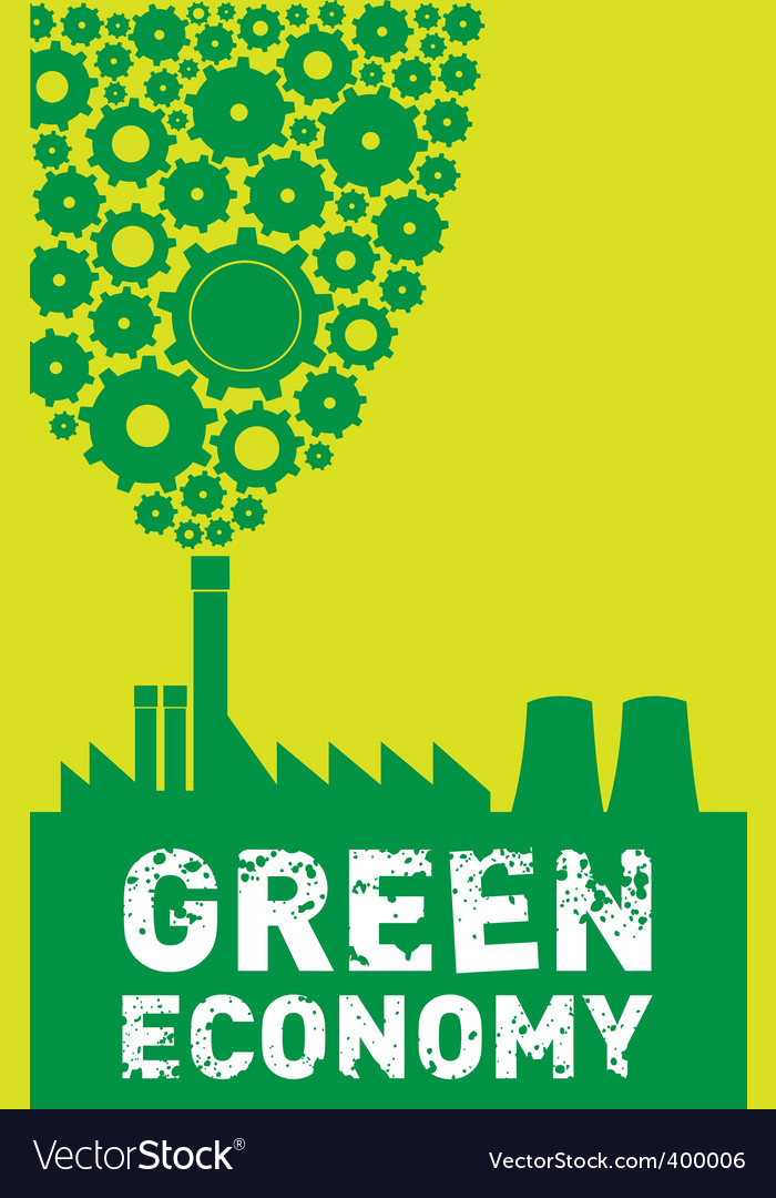 Green economy vector | Price: 1 Credit (USD $1)