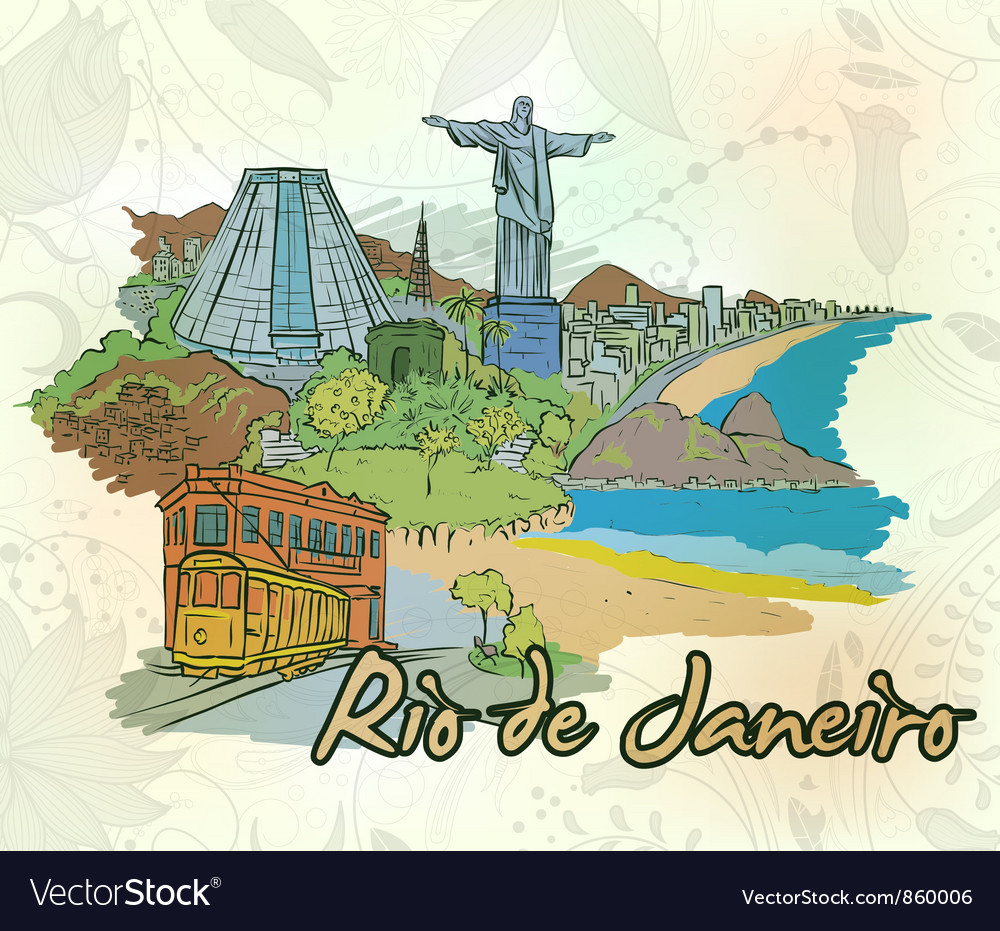 Rio de janeiro doodles vector | Price: 1 Credit (USD $1)