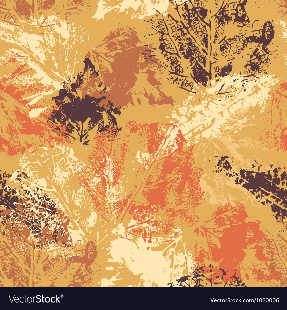 Seamless pattern with autumn leafs vector | Price: 1 Credit (USD $1)
