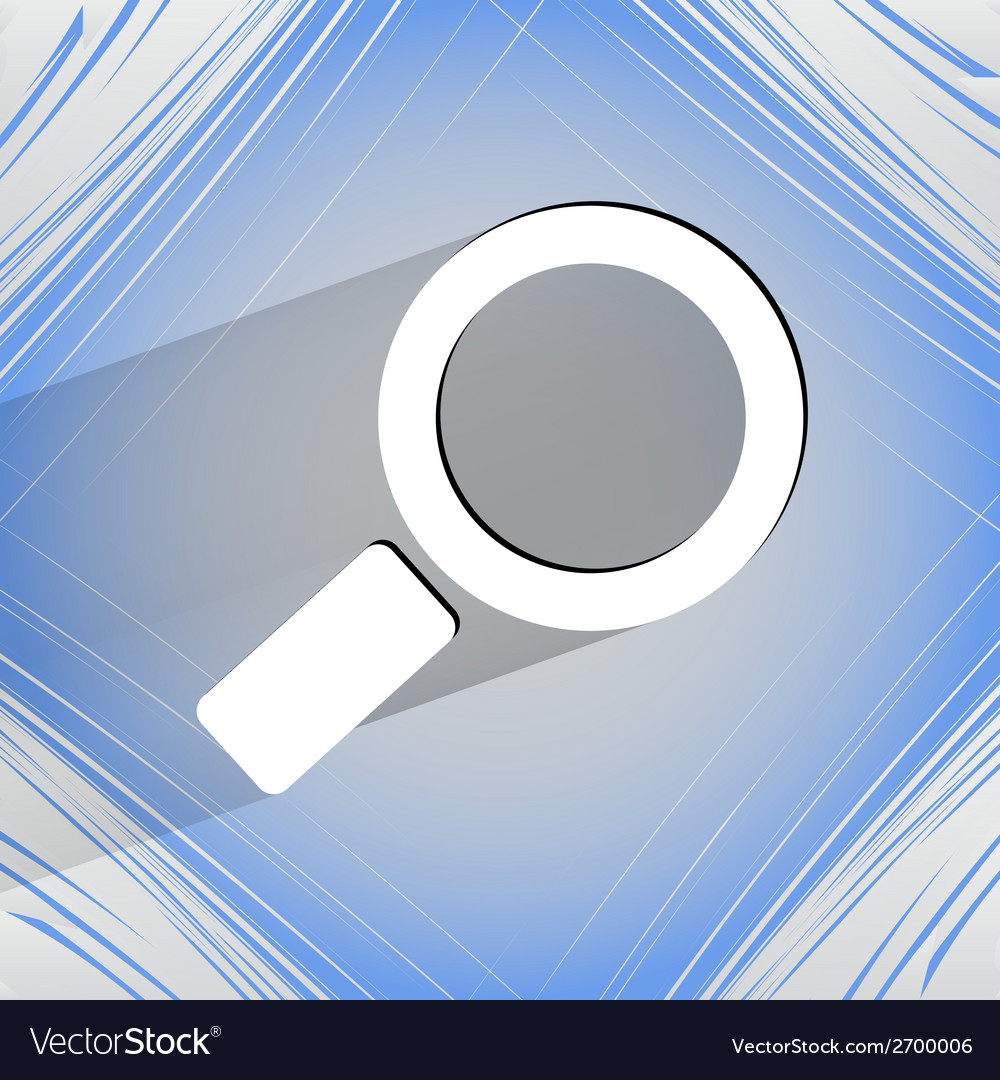 Search magnifier flat modern web design on a flat vector | Price: 1 Credit (USD $1)