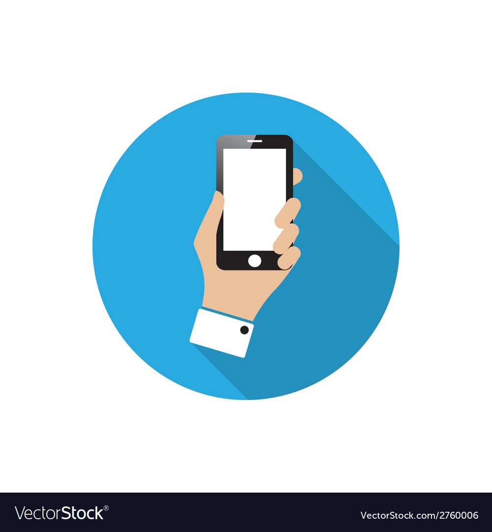 Smartphone in hand vector | Price: 1 Credit (USD $1)