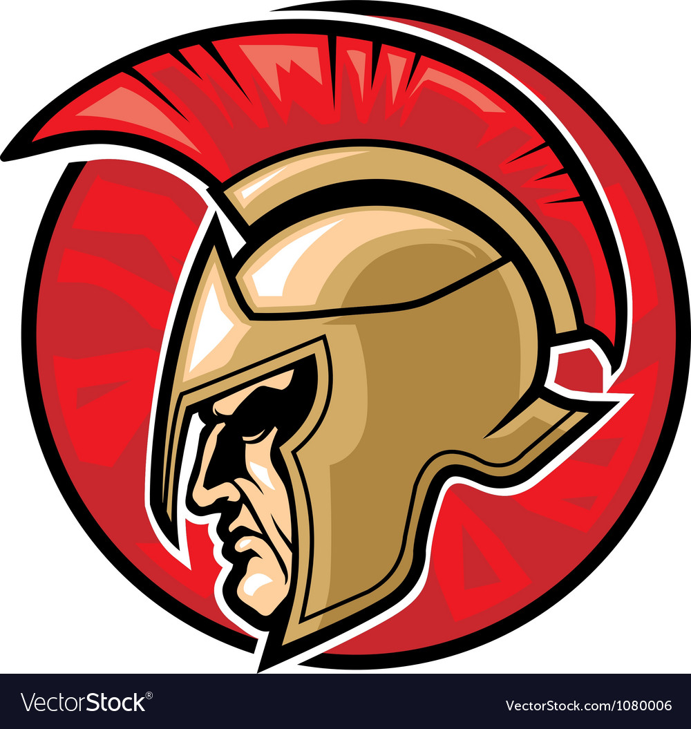Spartan warrior head vector | Price: 3 Credit (USD $3)