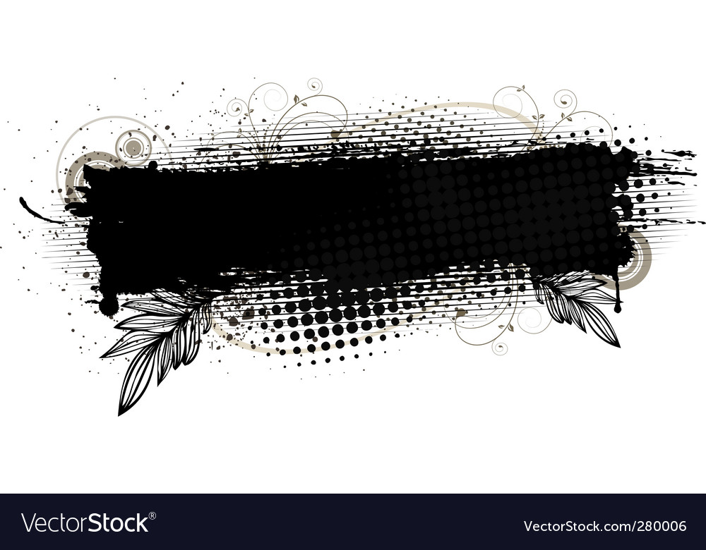 Splatter banner vector | Price: 1 Credit (USD $1)