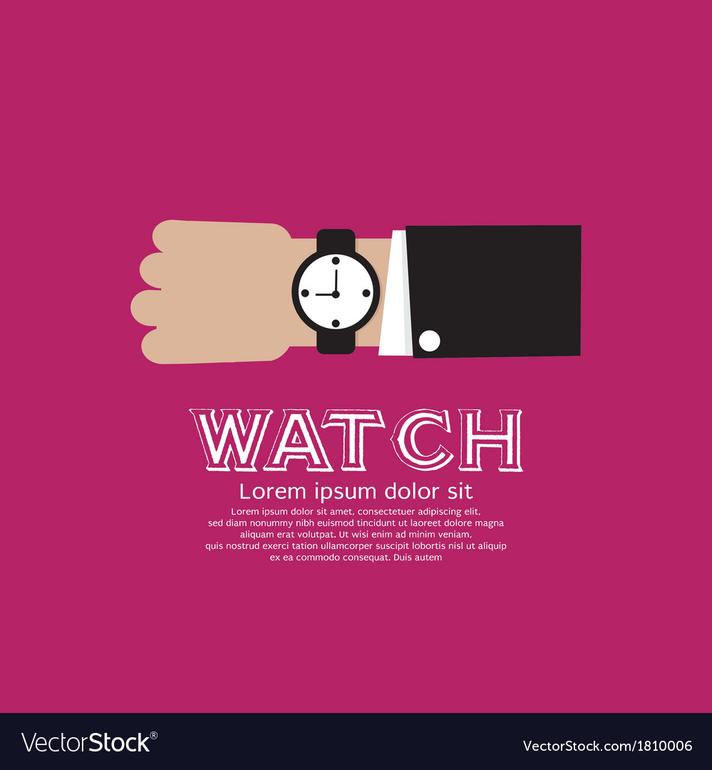Wristwatch eps10 vector | Price: 1 Credit (USD $1)