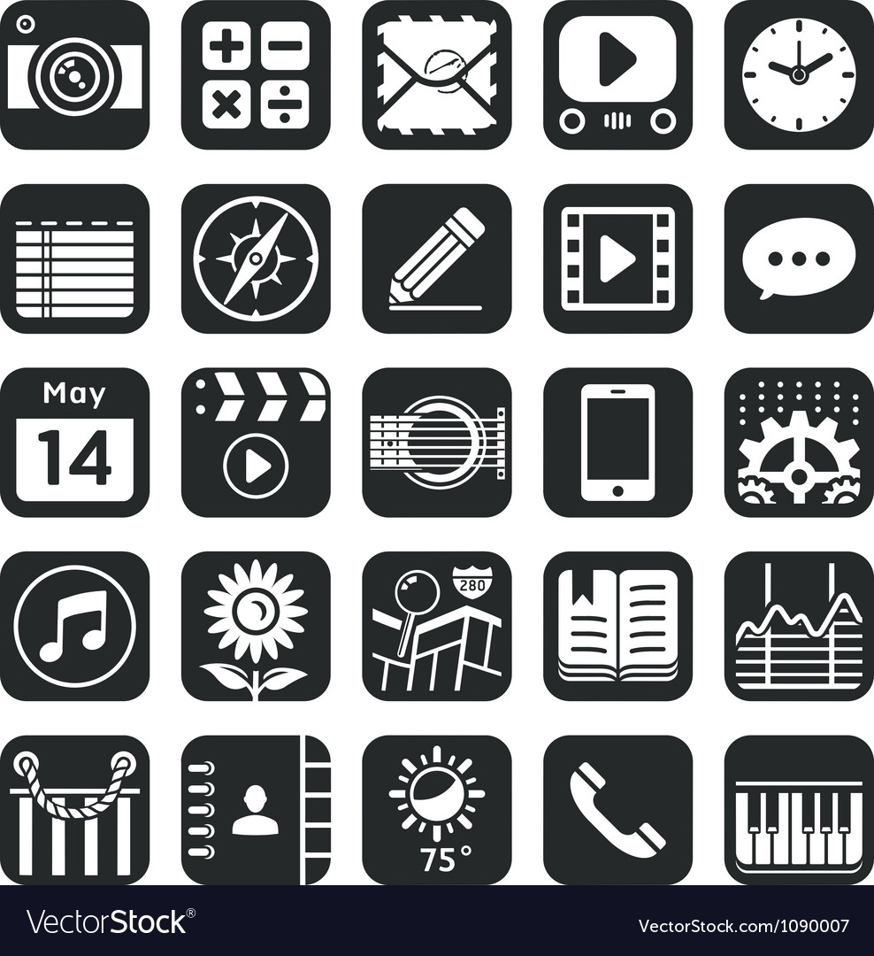 Application icons for smartphone and web vector | Price: 1 Credit (USD $1)
