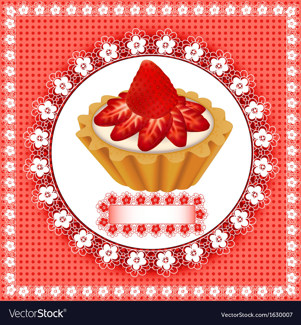 Background with a fruity dessert cake vector | Price: 1 Credit (USD $1)