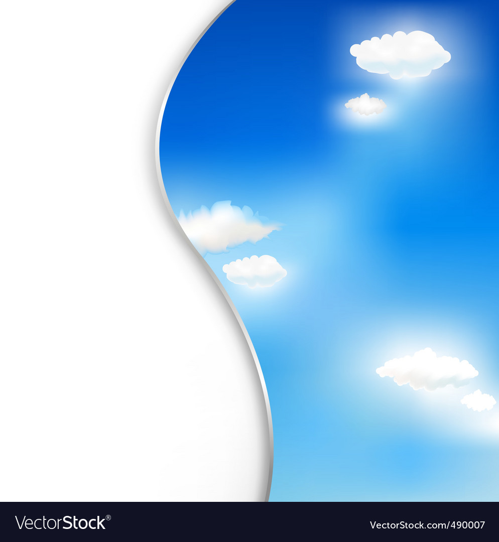 Background with clouds and sky vector | Price: 1 Credit (USD $1)