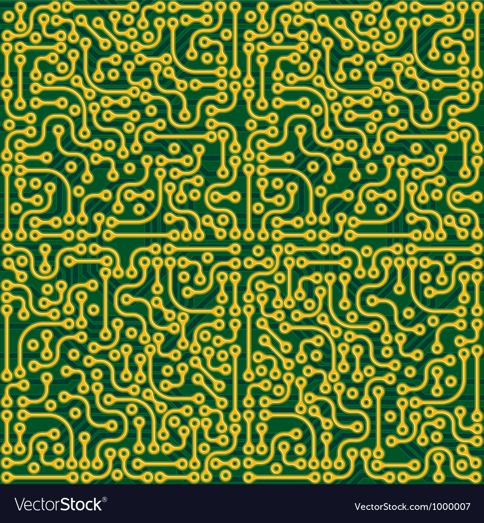 Circuit board seamless vector | Price: 1 Credit (USD $1)