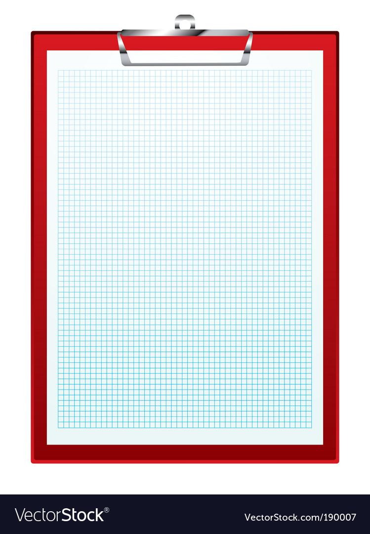 Clip board graph paper vector | Price: 1 Credit (USD $1)