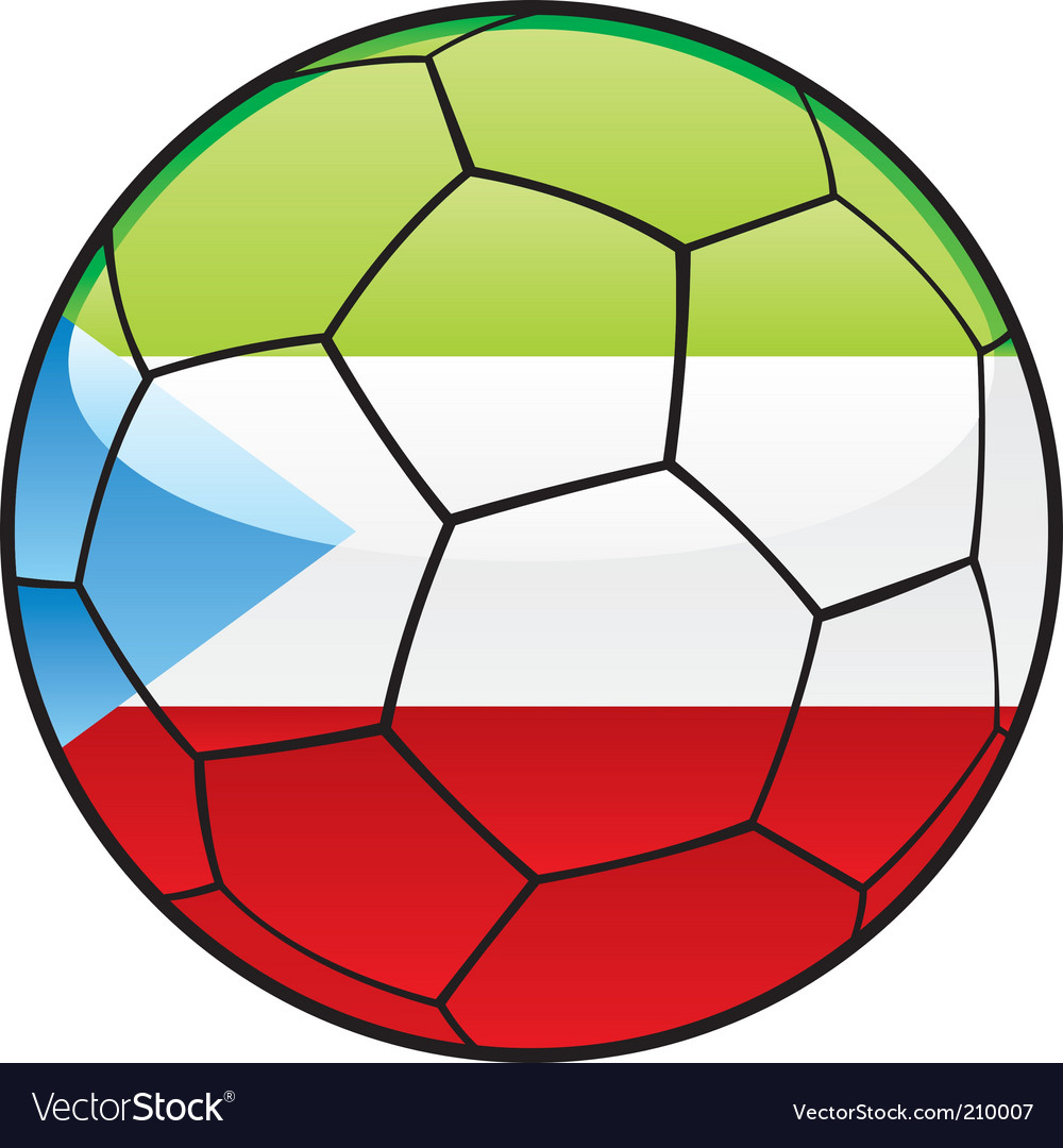 Equatorial guinea flag on soccer ball vector | Price: 1 Credit (USD $1)