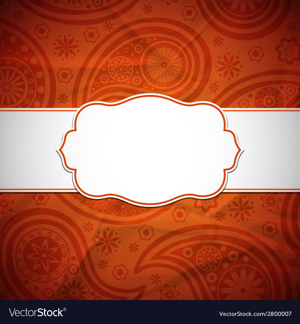 Frame in the indian style vector | Price: 1 Credit (USD $1)