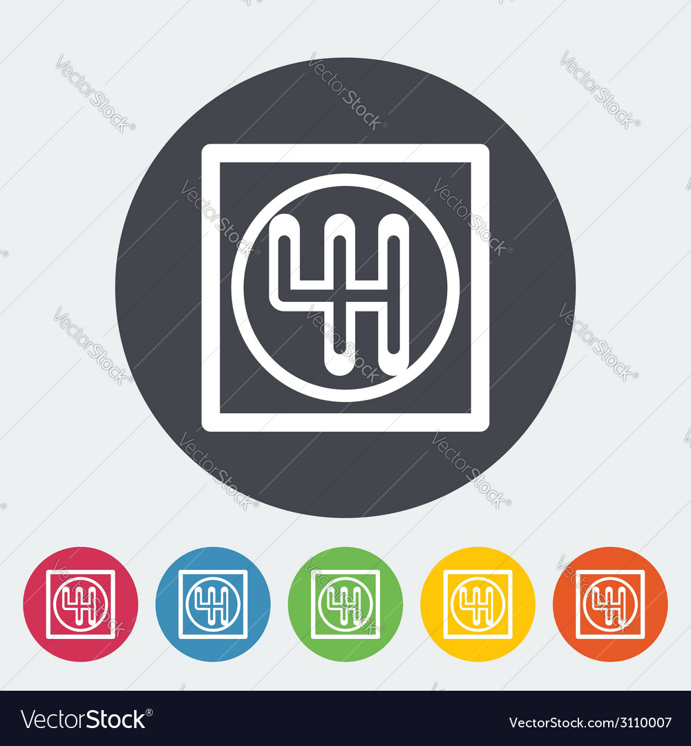 Gear single icon vector | Price: 1 Credit (USD $1)