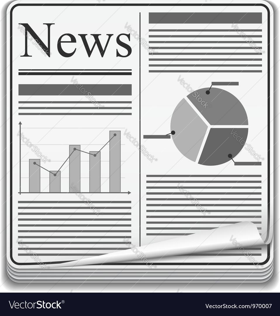 Newspaper icon vector | Price: 1 Credit (USD $1)