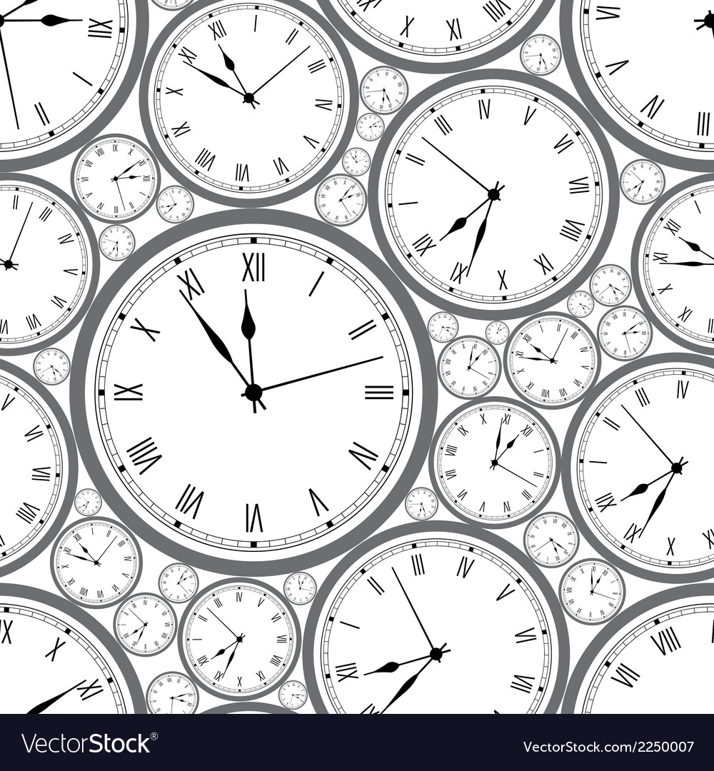 Seamless pattern with watches stylish texture vector | Price: 1 Credit (USD $1)