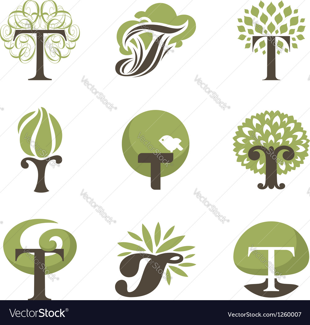Tree - logo template set vector | Price: 1 Credit (USD $1)