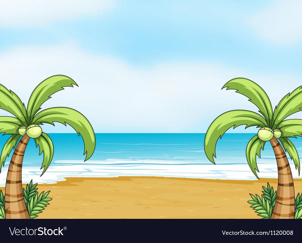 A sea shore vector | Price: 1 Credit (USD $1)