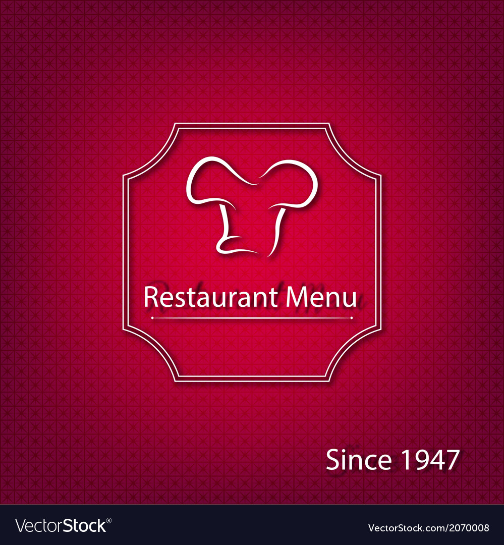 Abstract restaurant menu cover vector | Price: 1 Credit (USD $1)