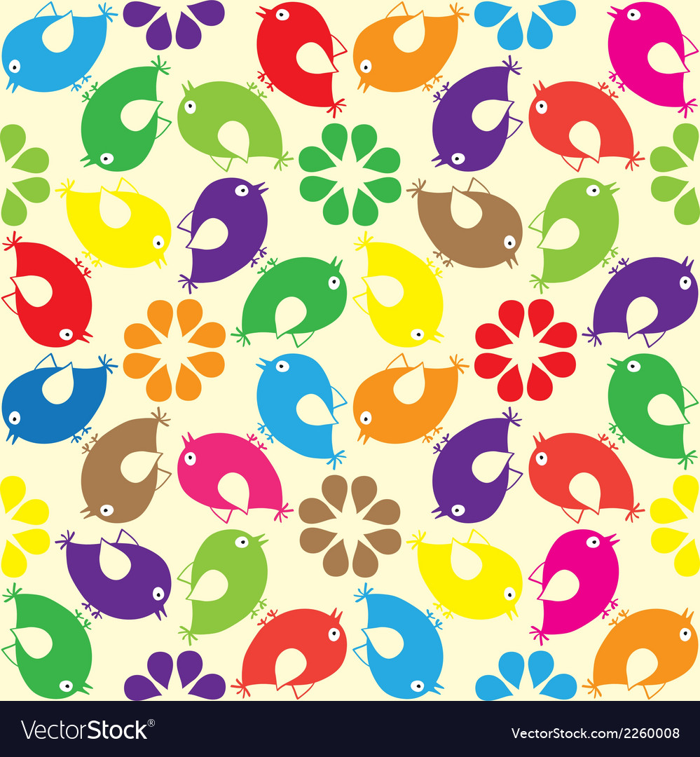 Birds seamless pattern vector | Price: 1 Credit (USD $1)