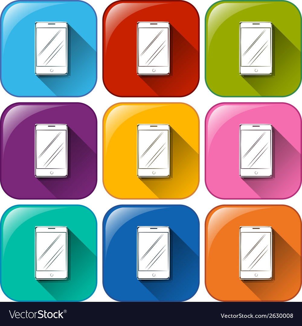 Cellular phone icons vector | Price: 1 Credit (USD $1)