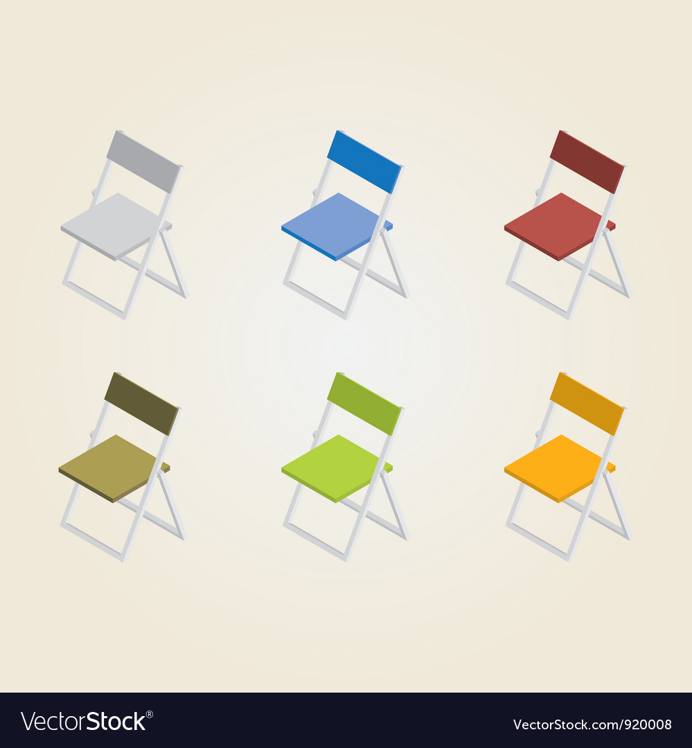 Chairs in color vector | Price: 1 Credit (USD $1)