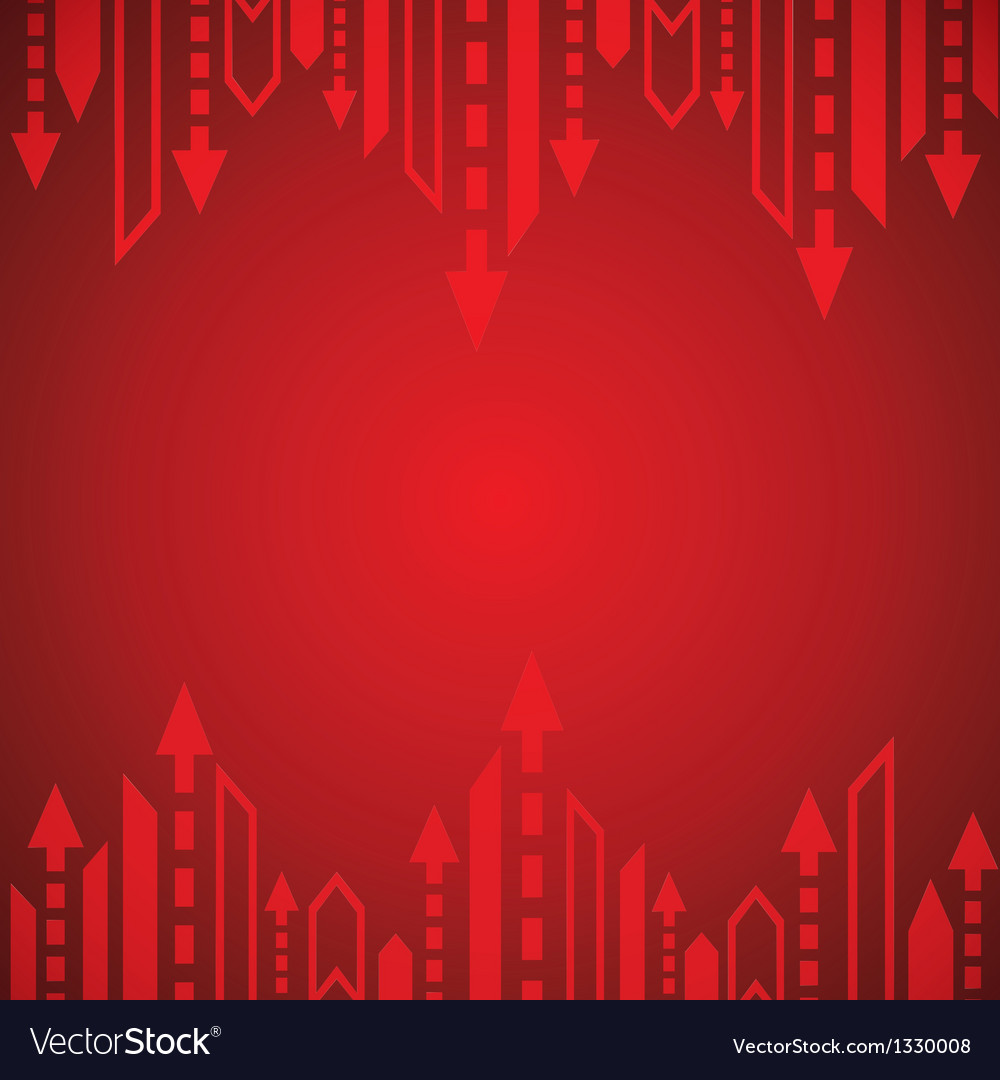 Red arrow background vector | Price: 1 Credit (USD $1)