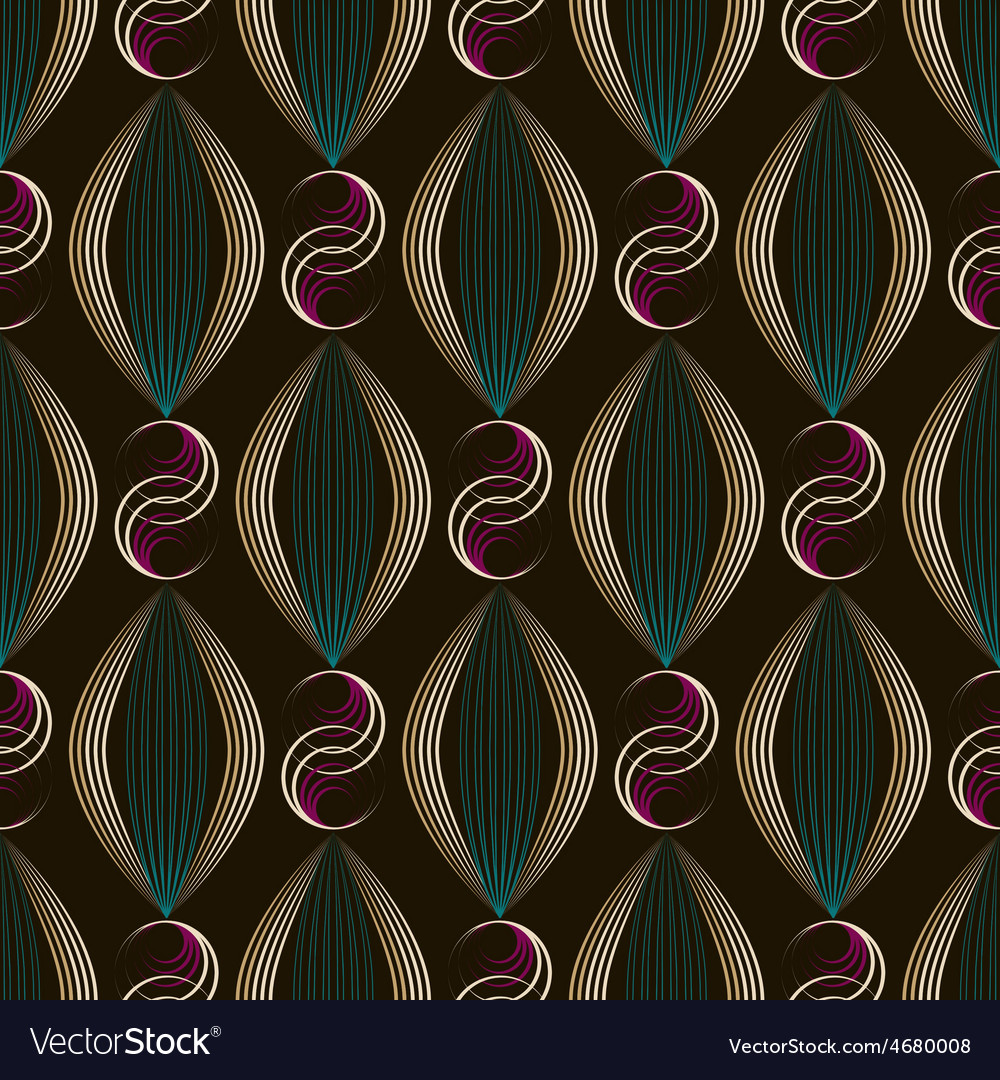 Seamless beautiful art deco pattern ornament vector | Price: 1 Credit (USD $1)