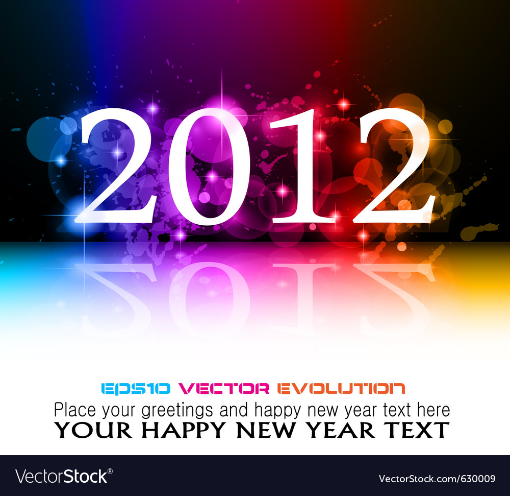 2012 new year celebration vector | Price: 3 Credit (USD $3)
