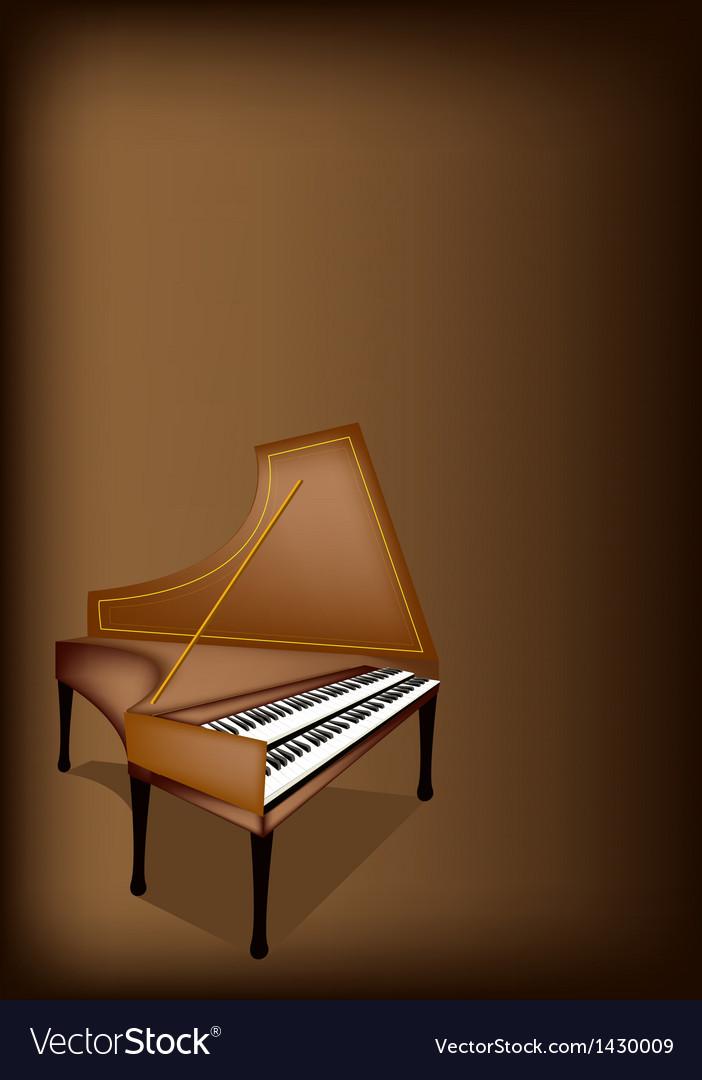 A retro harpsichord on dark brown background vector   Price: 1 Credit (USD $1)