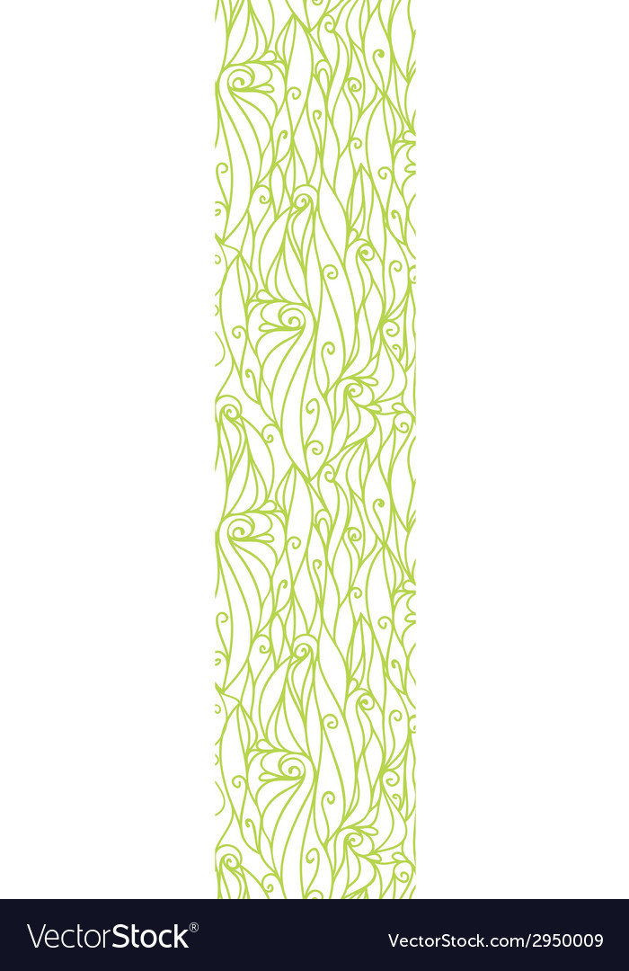 Abstract swirls texture vertical border seamless vector | Price: 1 Credit (USD $1)