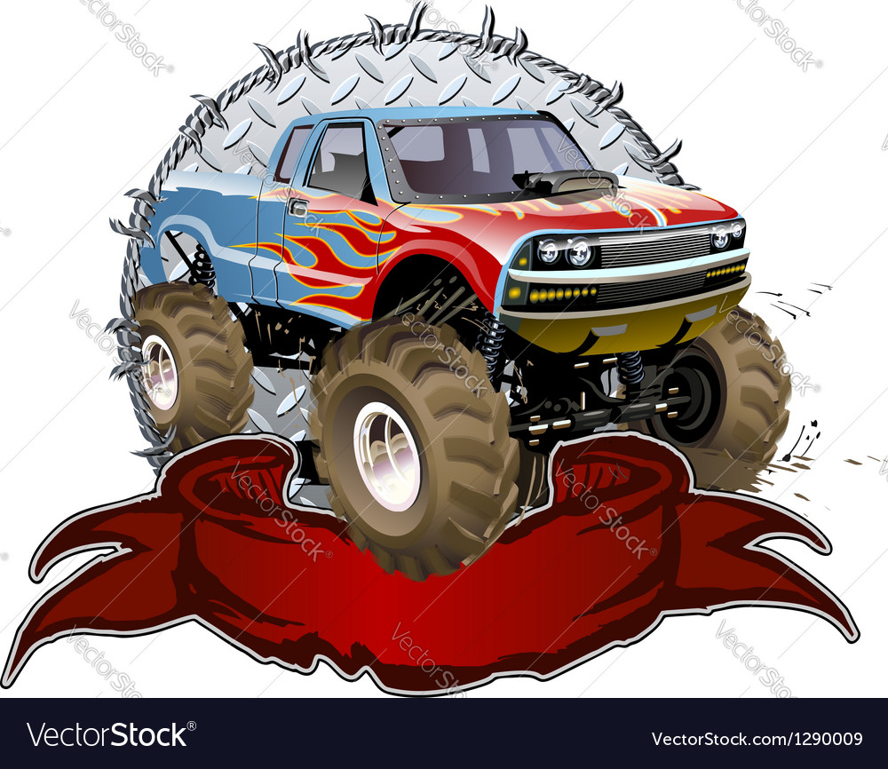 Cartoon monster truck vector | Price: 5 Credit (USD $5)
