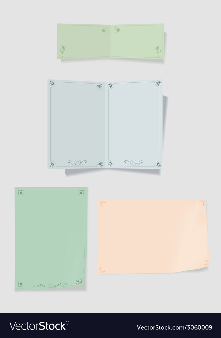 Collection of color paper for record vector | Price: 1 Credit (USD $1)