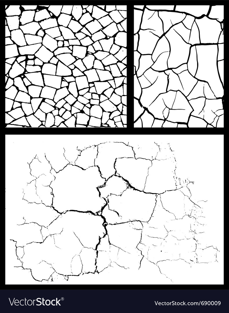 Cracked background set vector | Price: 1 Credit (USD $1)