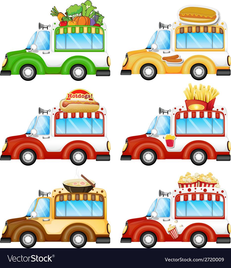 Different food vans vector   Price: 1 Credit (USD $1)