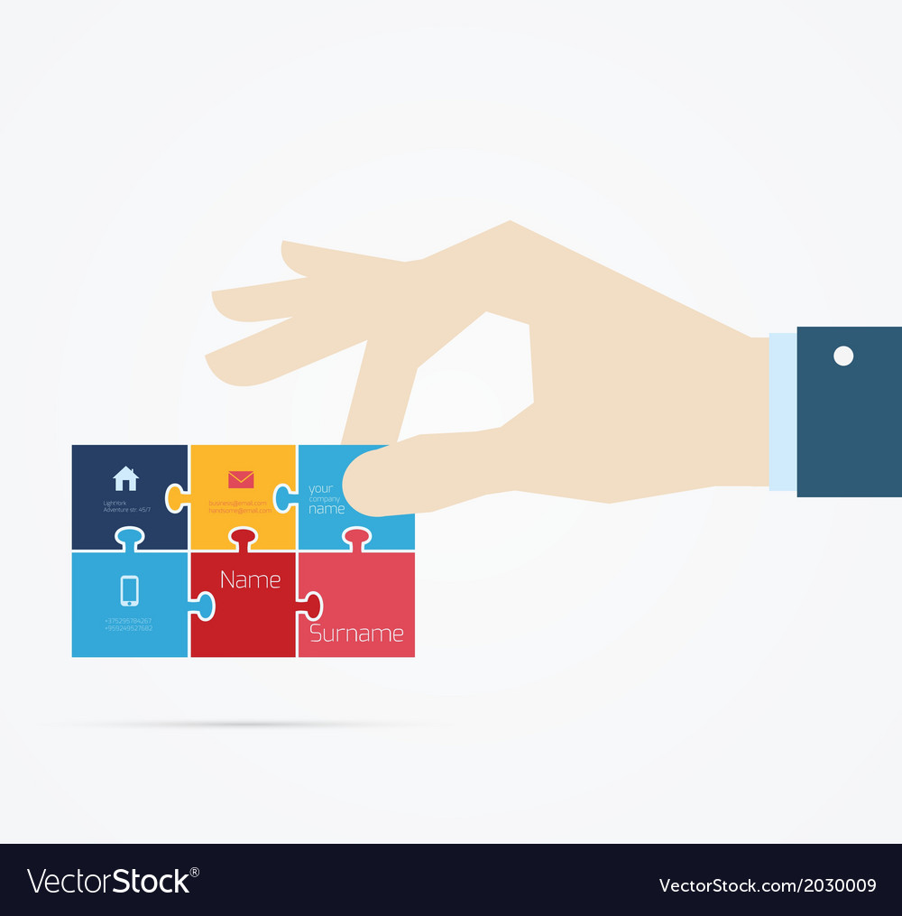 Hand taking business card vector | Price: 1 Credit (USD $1)