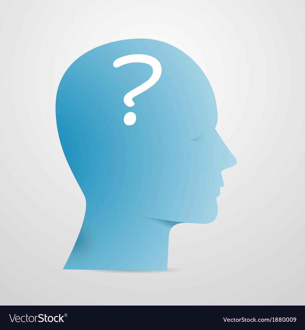 Head question vector | Price: 1 Credit (USD $1)