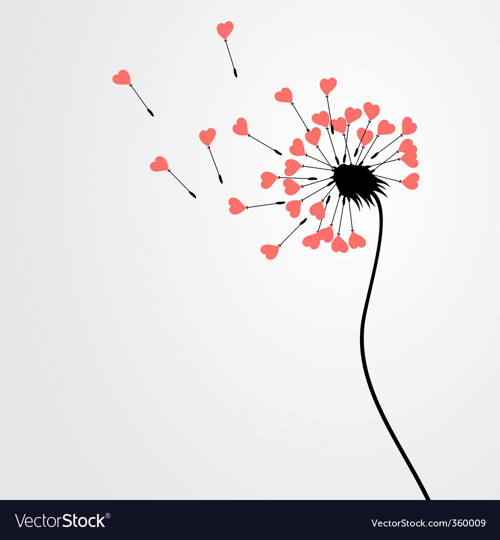 Love dandelion vector | Price: 1 Credit (USD $1)