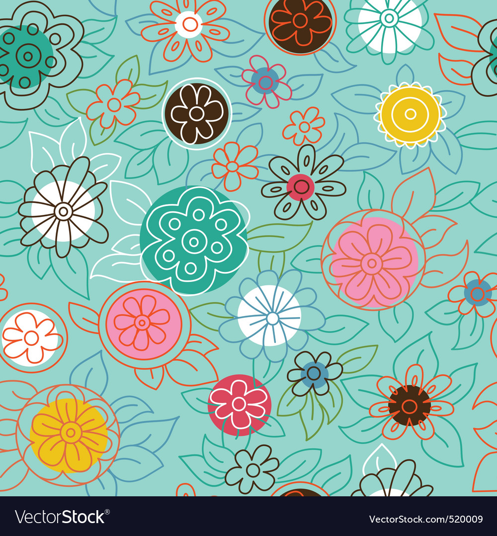 Modern floral pattern vector | Price: 1 Credit (USD $1)