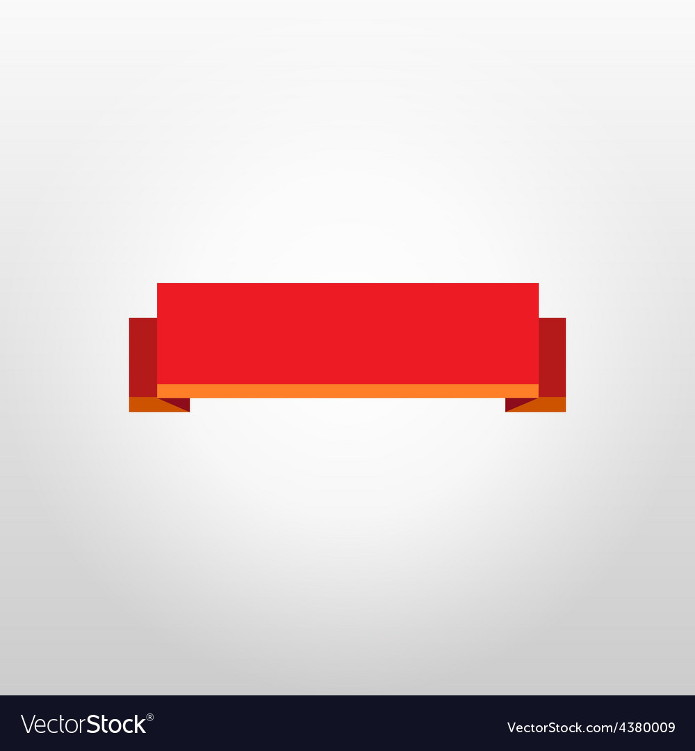 Red ribbon on white background under glow vector | Price: 1 Credit (USD $1)
