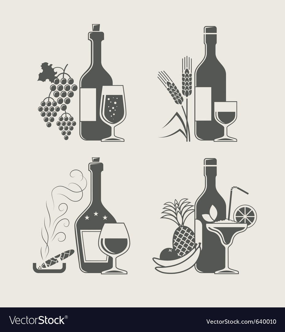 Alcoholic drinks vector   Price: 1 Credit (USD $1)