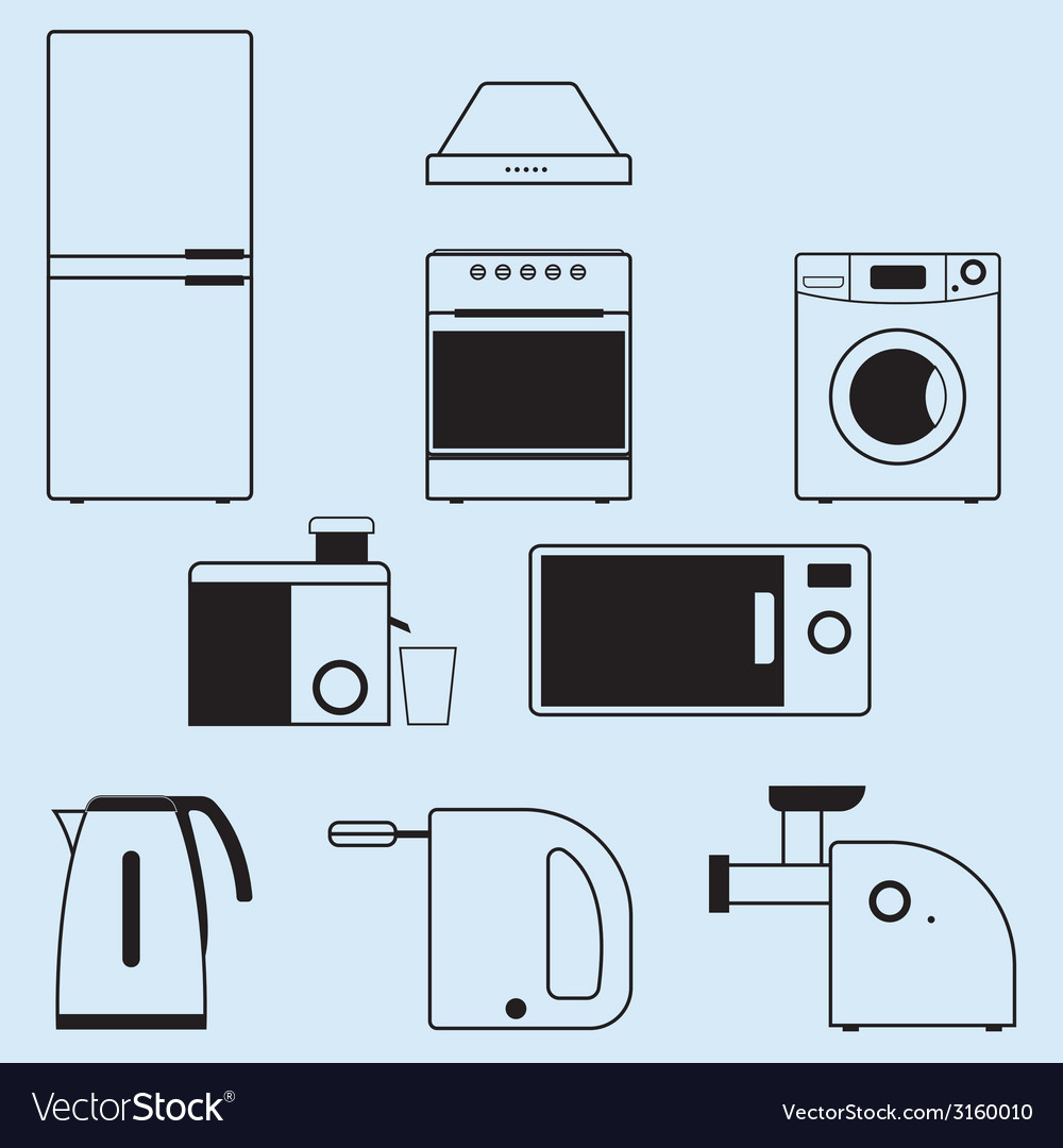 Appliances for the kitchen and home vector | Price: 1 Credit (USD $1)