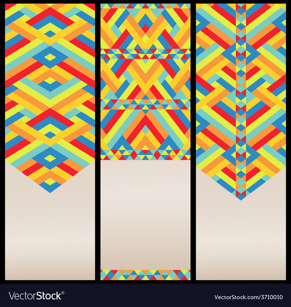Bright geometric pattern at set of cards vector | Price: 1 Credit (USD $1)