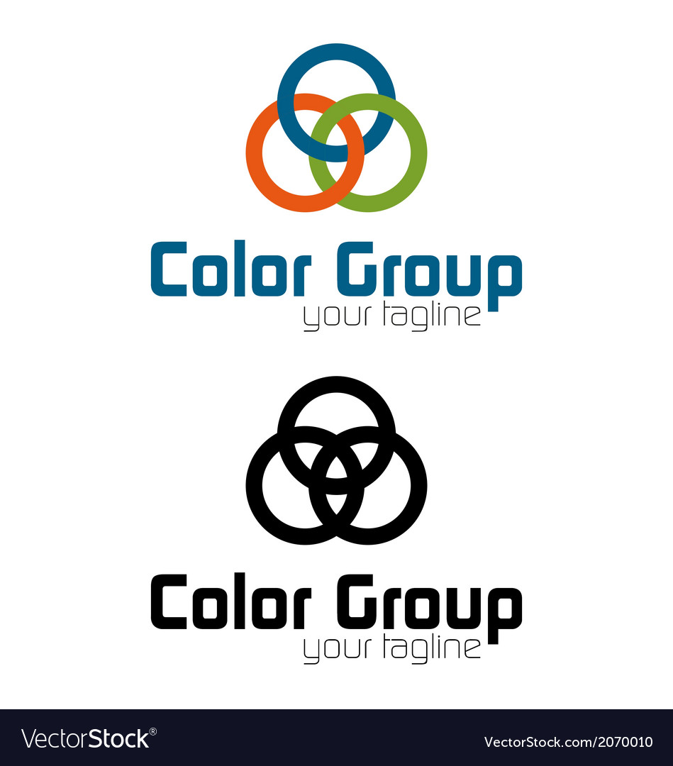 Color group logo vector | Price: 1 Credit (USD $1)