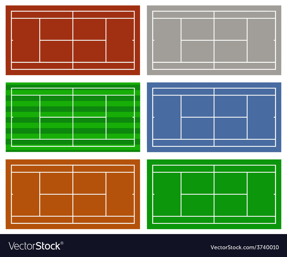 Different tennis courts vector | Price: 1 Credit (USD $1)