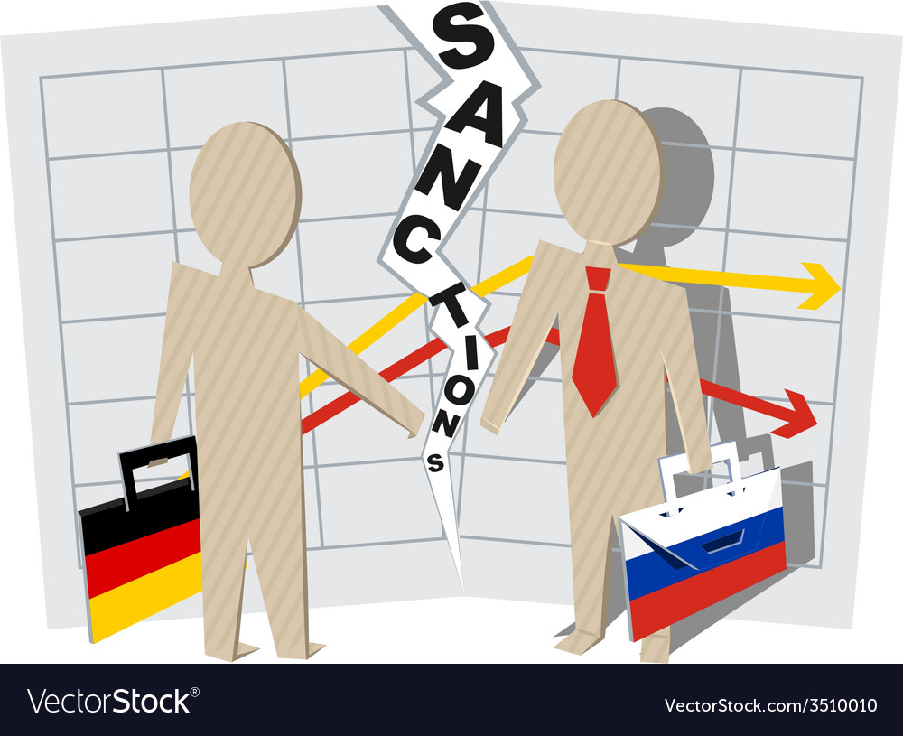 Germany sanctions against russia vector | Price: 1 Credit (USD $1)