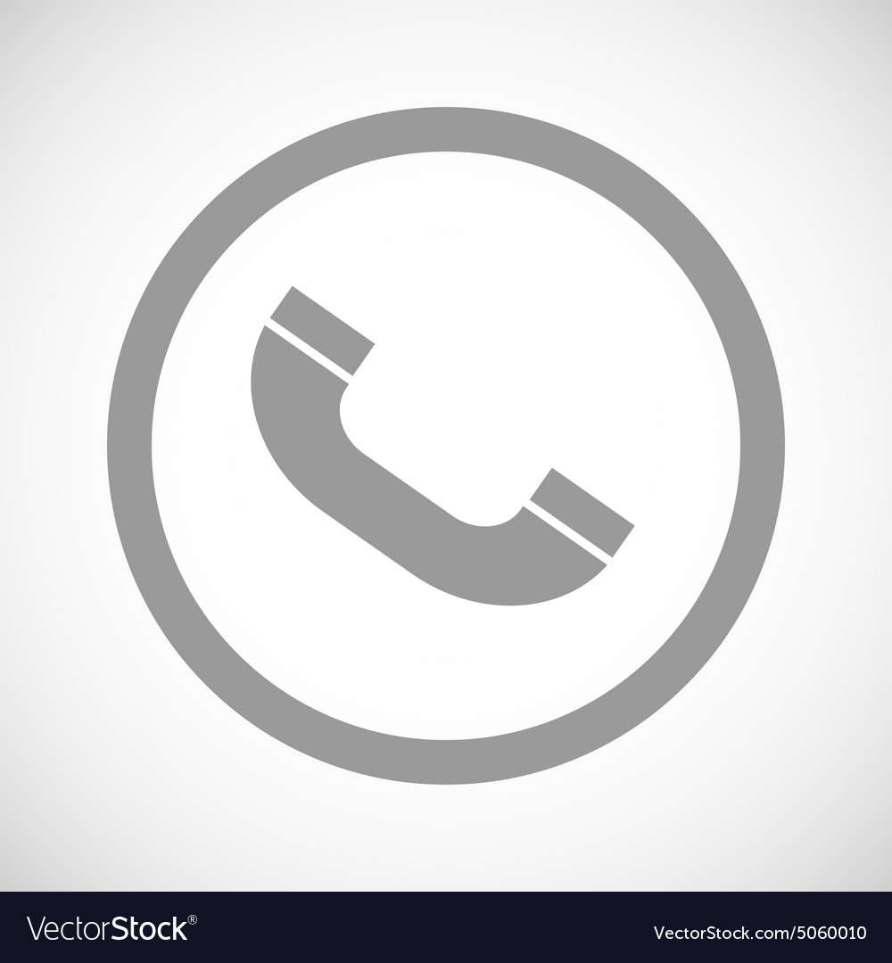 Grey call sign icon vector
