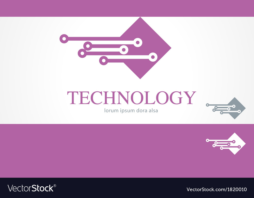 It information technology logo concept template vector | Price: 1 Credit (USD $1)