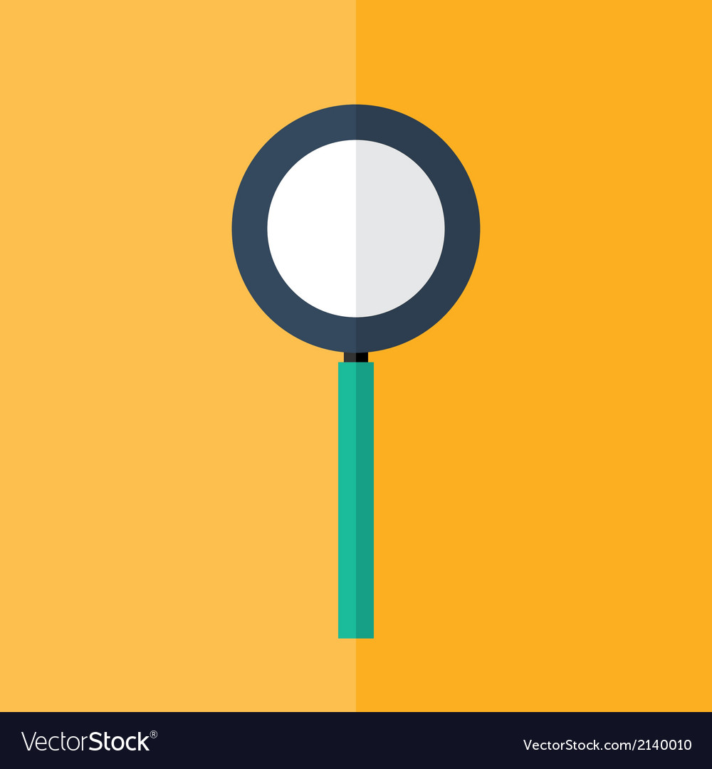 Loupe icon over orange vector | Price: 1 Credit (USD $1)