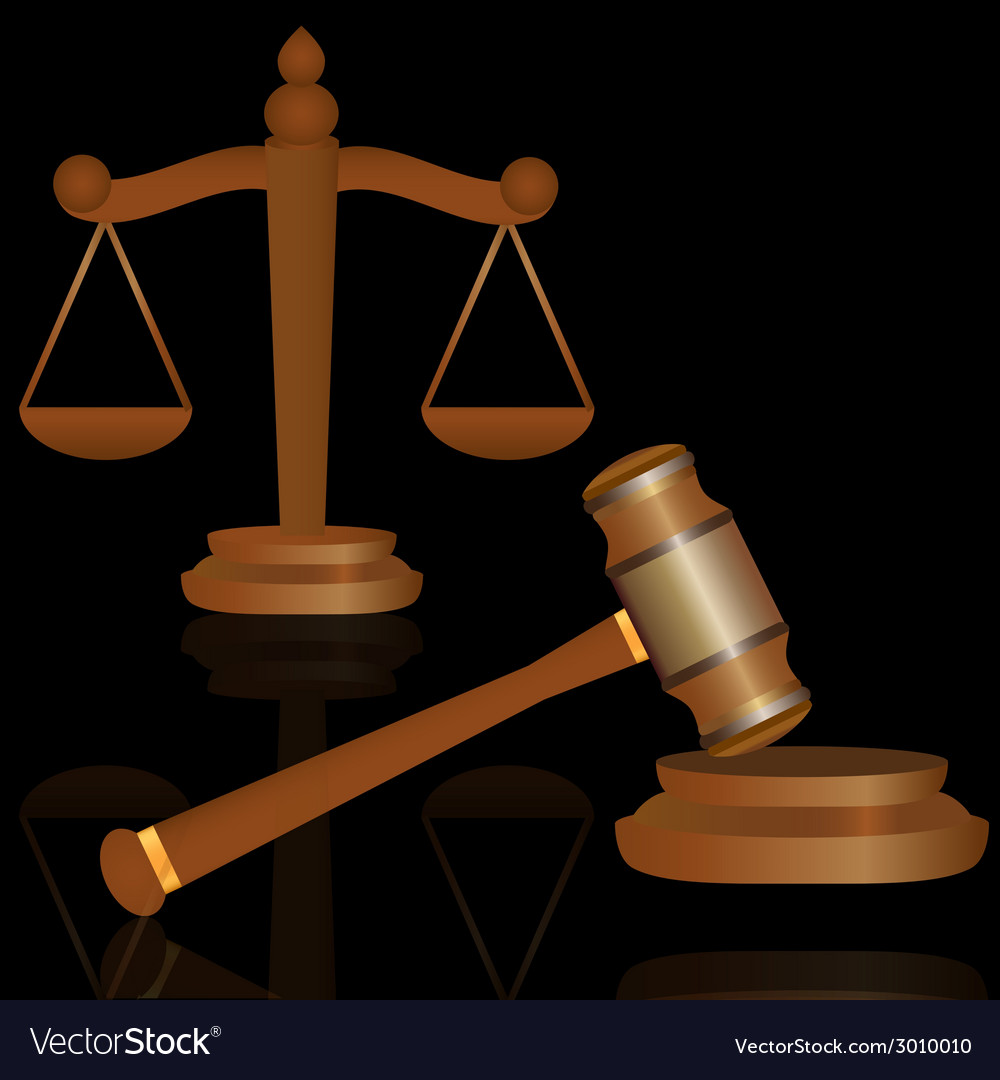 Scale and gavel vector | Price: 1 Credit (USD $1)